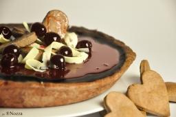 Torta al cioccolato con amarene sciroppate